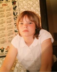 Анетт Ользон в детстве, фото