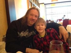Кай Хахто, фото с сыном