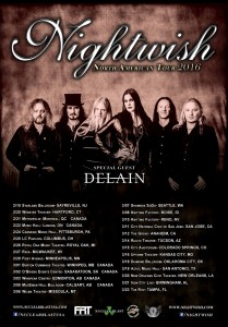 Даты тура Nightwish в Северной Америке в 2016