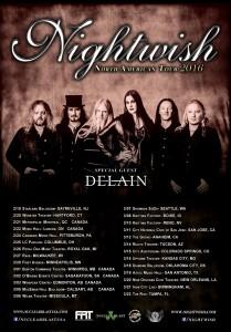 Даты тура Nightwish в Северной Америке в 2016