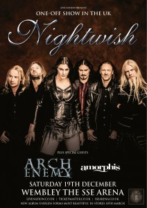 Постер концерта Nightwish на стадионе в Уэмбли