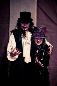 Туомас Холопайнен и Трой Донокли на съемках фильма Воображариум (Imaginaerum) Nightwish, фото