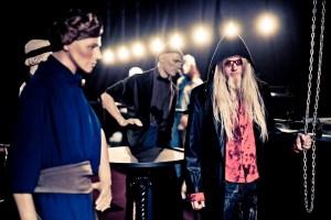 Марко Хиетала на съемках фильма Воображариум (Imaginaerum) Nightwish