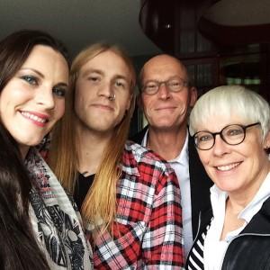 Флор Янсен, Ханнес ван Далл и родители Флор Янсен, фото