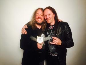 Кай Хахто и Трой Донокли, фото на награждении Metal Hammer