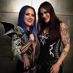 Флор Янсен и Алисса Arch Enemy, фото
