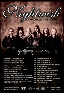Афиша концерта Nightwish