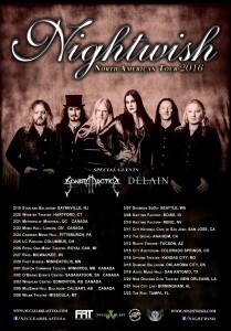 Афиша концерта Nightwish