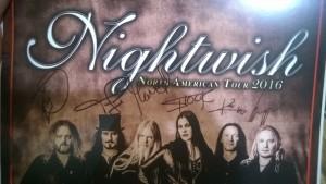 Автографы Nightwish, фото