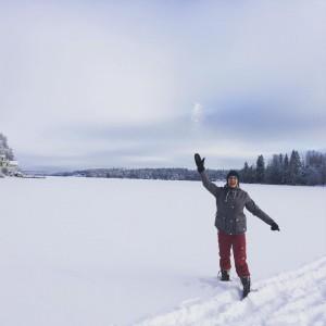 Флор Янсен зимой на отдыхе, фото