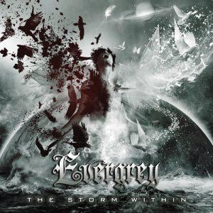 "Обложка альбома Evergrey ""The Storm Within"" с участием вокалистки Nightwish Флор Янсен"